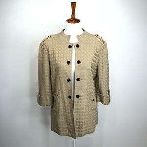 Ming Wang Open Front cardigan jacket large E39